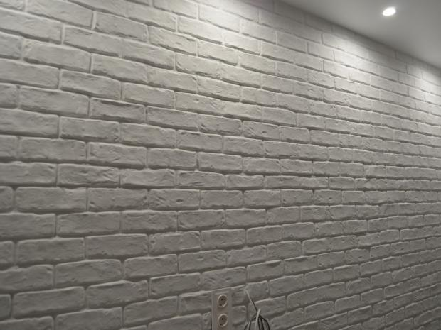 white brick in the interior
