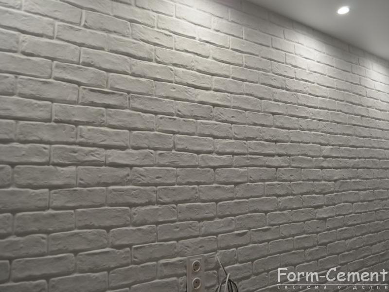 white brick in the interior